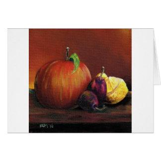Apple, ameixa e limão cartão comemorativo