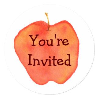 Apple Convite Quadrado 13.35 X 13.35cm