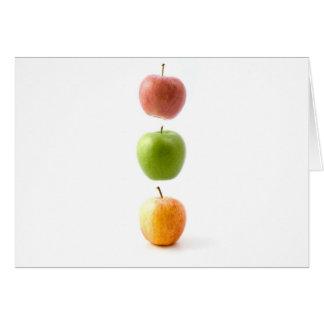Apple cronometra cartão comemorativo