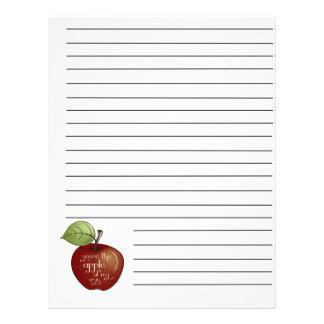 Apple de minhas páginas da pasta da receita do olh modelo de panfletos