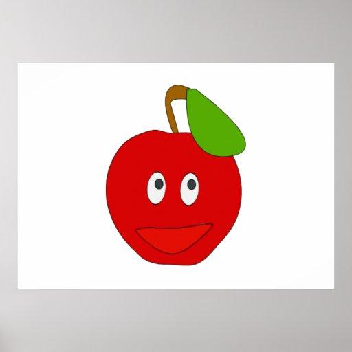 Apple de sorriso pôsteres