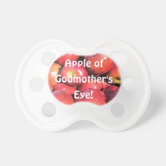 Apple do olho da madrinha! chupeta de bebê