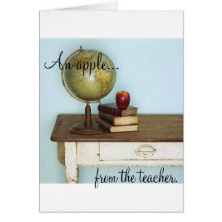 Apple do professor cartão