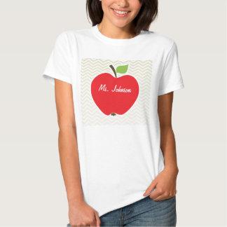 Apple em Chevron bege; ziguezague Tshirt