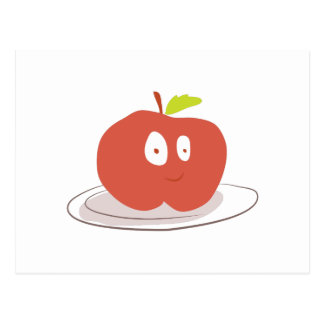 Apple engraçado cartão postal