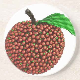 Apple fez das maçãs porta copos de arenito