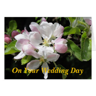 Apple floresce cartão de casamento