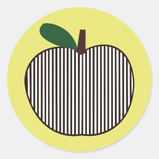 Apple listrado preto e branco adesivo