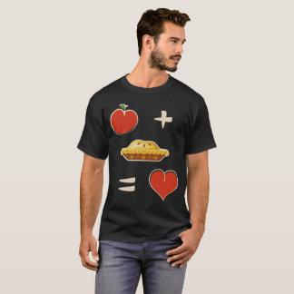 Apple mais a torta iguala a camisa da equação da