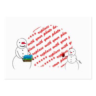 Apple para a foto do professor molda cartões de visita