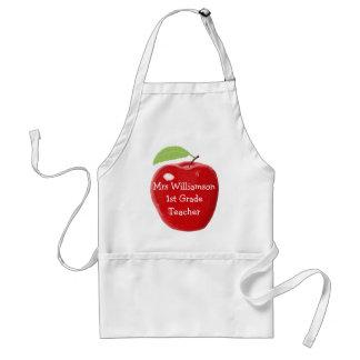 Apple pintado personalizado para o professor avental