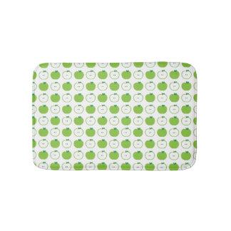 Apple verde modela a esteira de banho tapete de banheiro