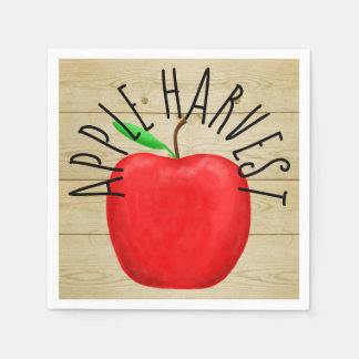 Apple vermelho colhe os guardanapo de papel do