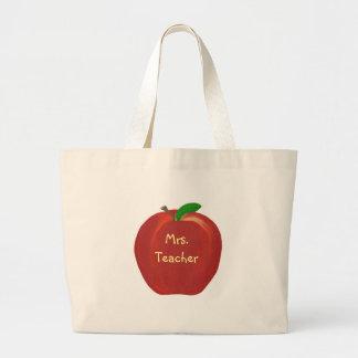Apple vermelho personalizado, professor, as bolsas