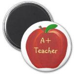 Apple vermelho que pinta, A+ Ímãs do professor Ima De Geladeira