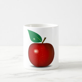 Apple vermelho torrado agride caneca de café