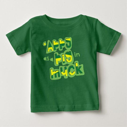 'Appy como um porco no estrume Yorkshire que diz o Camiseta Para Bebê