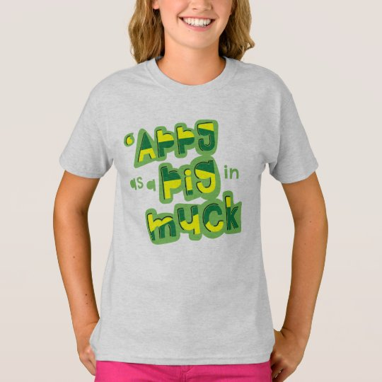'Appy como um porco no TShirt britânico do Camiseta