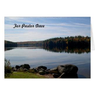 Apreciação calma do pastor da fotografia do lago cartão comemorativo