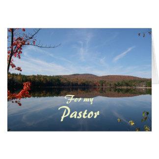 Apreciação do pastor da queda do lago e das cartão comemorativo
