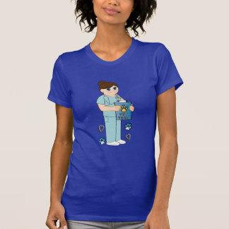 Apreciação veterinária do técnico t-shirts