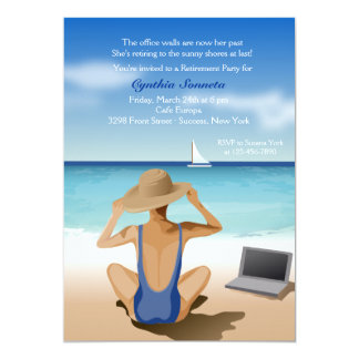 Apreciando o convite de festas da aposentadoria da