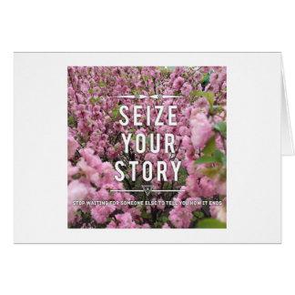 Apreenda seu cartão de nota da história - vazio