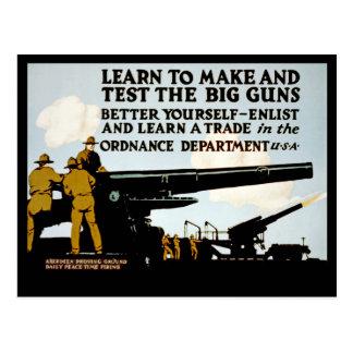 Aprenda fazer e testar as armas grandes! cartão postal