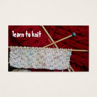 Aprenda fazer malha o modelo de cartão de negócios