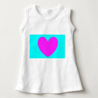 Aprenda seu vestido das formas. Coração