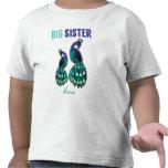 Aprendendo o pavão da irmã mais velha dos doces pe t-shirts