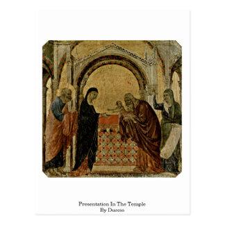 Apresentação no templo por Duccio Cartão Postal