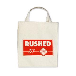 Apressado pela agência expressa da estrada de ferr bolsas para compras