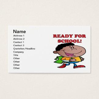 Apronte para a escola 2 cartão de visitas
