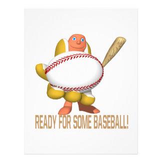 Apronte para algum basebol modelo de panfleto