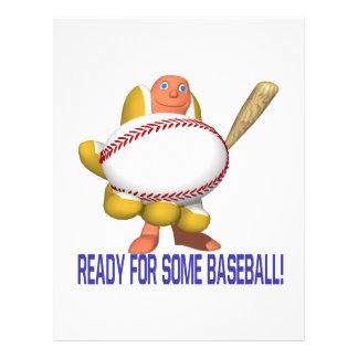 Apronte para algum basebol modelos de panfleto