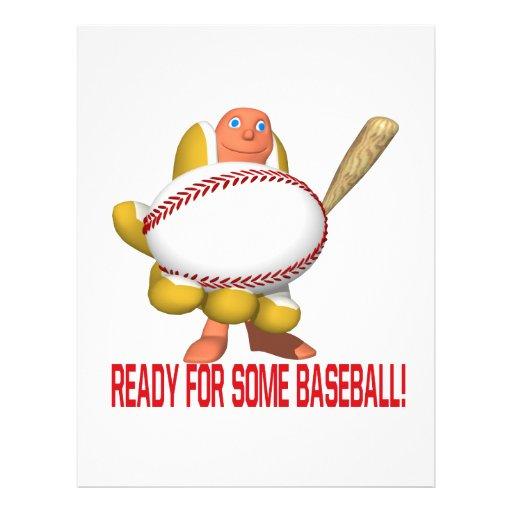 Apronte para algum basebol panfleto coloridos