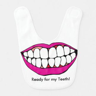 """""""Apronte para babador dos meus dentes"""""""