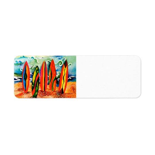 Apronte para surfar a etiqueta do retorno etiqueta endereço de retorno