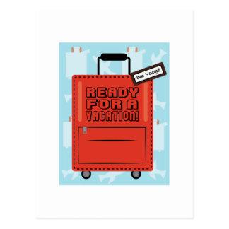 Apronte por umas férias cartoes postais