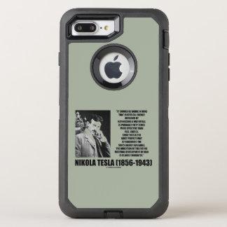 Aproveitando citações de Tesla da energia de um Capa Para iPhone 8 Plus/7 Plus OtterBox Defender