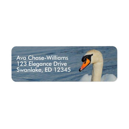 Aproximações bonitas de uma cisne muda etiqueta endereço de retorno