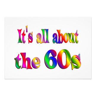 Aproximadamente os anos 60 convite personalizado