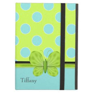 Aqua & caixa verde do ar do iPad das bolinhas
