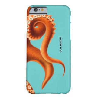 Aqua colorido corajoso e iPhone alaranjado do Capa Barely There Para iPhone 6