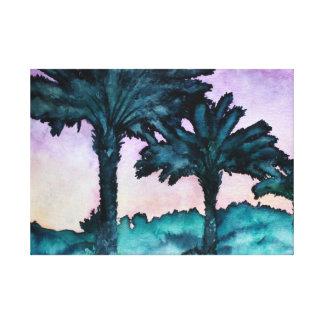 aqua cor-de-rosa roxo da arte abstracta moderna da impressão de canvas esticadas