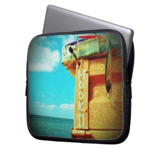 Aqua da caixa de equipamento dos peixes da praia capa de notebook