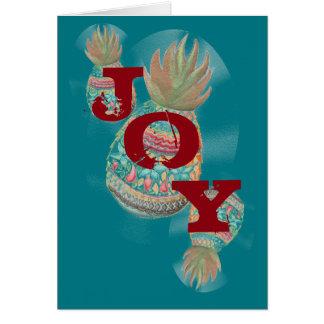 Aqua do cartão de Natal do abacaxi da ALEGRIA