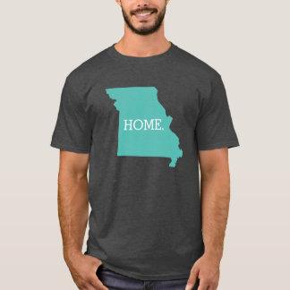 Aqua do estado de origem de Missouri Camiseta