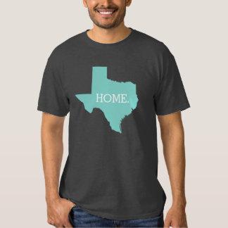 Aqua do estado de origem de Texas Tshirt